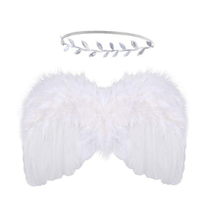 Cute Newborn Baby Angel Wings Art Gift Photo Prop Set - shopbabyitems