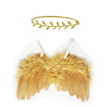 Load image into Gallery viewer, Cute Newborn Baby Angel Wings Art Gift Photo Prop Set - shopbabyitems