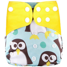 Load image into Gallery viewer, Printed Baby Cloth Diaper Adjustable Baby Nappies Fit 0-3years 3-15kg Baby - shopbabyitems