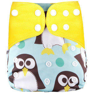 Printed Baby Cloth Diaper Adjustable Baby Nappies Fit 0-3years 3-15kg Baby - shopbabyitems