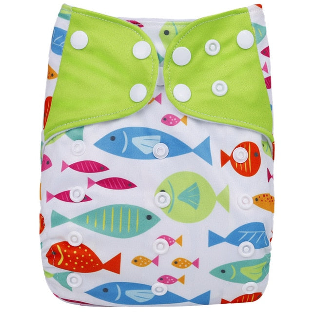 1PC Reusable Waterproof digital printed baby Cloth Diaper One Size Pocket baby nappies wholesale price fit for 3-15kg - shopbabyitems