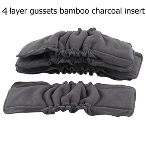 5PCS Reusable Bamboo Charcoal Insert Baby Cloth Diaper Mat Nappy Inserts Changing Liners 4layer each insert Wholesale - shopbabyitems