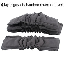 Load image into Gallery viewer, 5PCS Reusable Bamboo Charcoal Insert Baby Cloth Diaper Mat Nappy Inserts Changing Liners 4layer each insert Wholesale - shopbabyitems