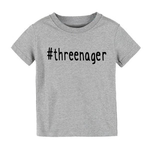 #threenager Letters Print Kids tshirt Boy Girl shirt Children Toddler Clothes Funny Top Tees Z-79 - shopbabyitems
