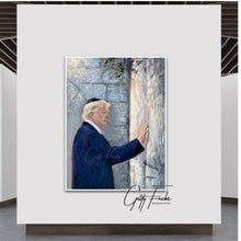Load image into Gallery viewer, Trump At The Kotel, Giclee Prints