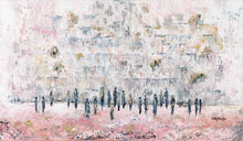 Load image into Gallery viewer, Pink Grey Marble Stones At The Kotel Giclee Print