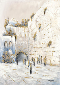 The Kotel in White and Gold