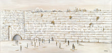 Load image into Gallery viewer, The Western Wall in Pure White Giclee Print