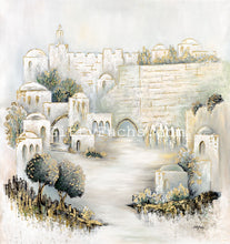 Load image into Gallery viewer, Jerusalem Yards in Pearl Green Giclee Print