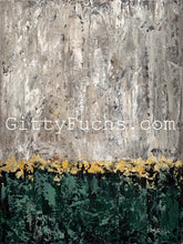 Load image into Gallery viewer, Emerald and Gold in the Abstract Garden of Jerusalem Giclee Print