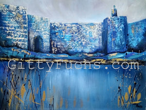 Heavenly Blue Reflections - A Traditional Print