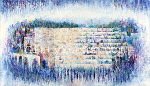Abstract Kotel in Blue