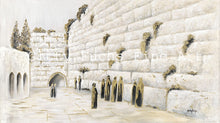 Load image into Gallery viewer, The Western Wall in White and Gold Mixed Media