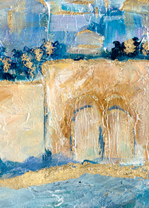 "Sun Glow Panoramic Jerusalem 59"" x 33.5"" /150x85 cm NOT AVAILABLE TILL JAN. 2021- EXHIBITION"