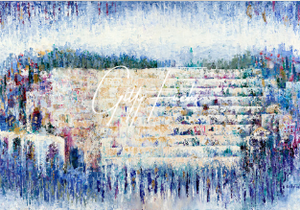 The Kotel in Blue Abstract Giclee Print