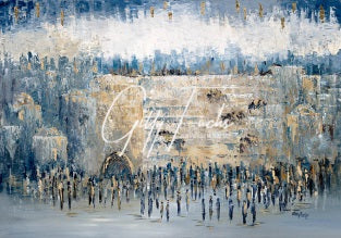Gathering At The Kotel, Giclee Print