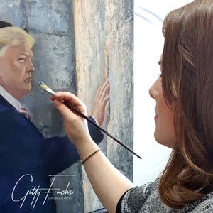 Trump At The Kotel, Giclee Prints