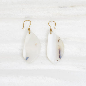 Leyaqat Earrings, Agate