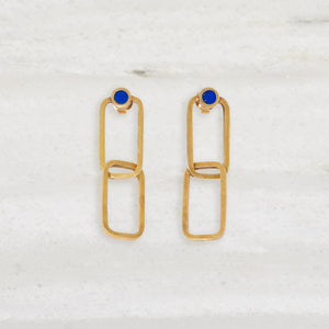 Link Earring with Lapis