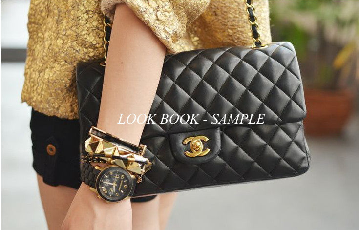 2910befd63e6 ... Chanel Black Lambskin 2.55 Double Flap Classic Bag Vintage-Garo Luxury  - Authentic Luxury Brand