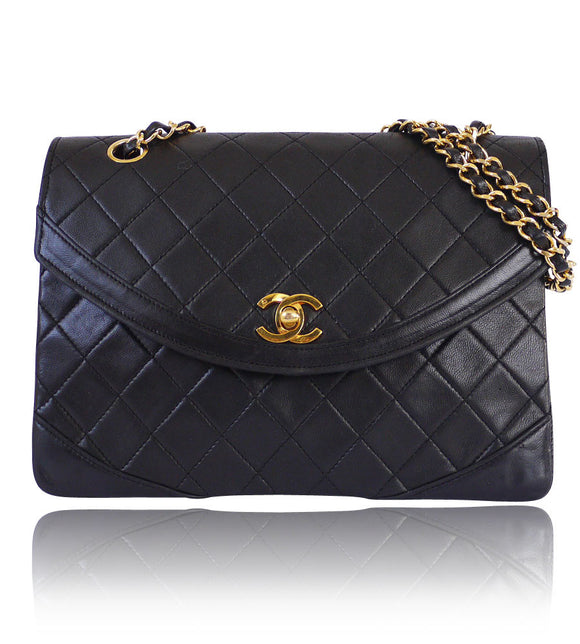 5309f91f46ac Chanel Black Lamb Skin 2.55 Paris Limited Edition Classic Vintage - Garo  Luxury - Authentic Luxury