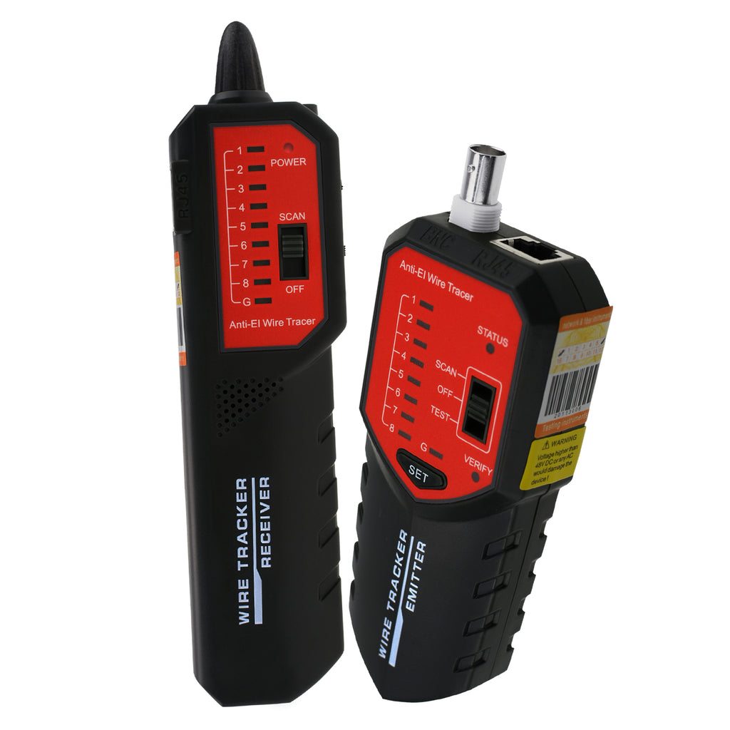 CTTK-712 RJ45 RJ11 BNC Wire Tracker Locator - Wire Sorting Hunting Circuit Status Checking Tracing-Tekcoplus Ltd.