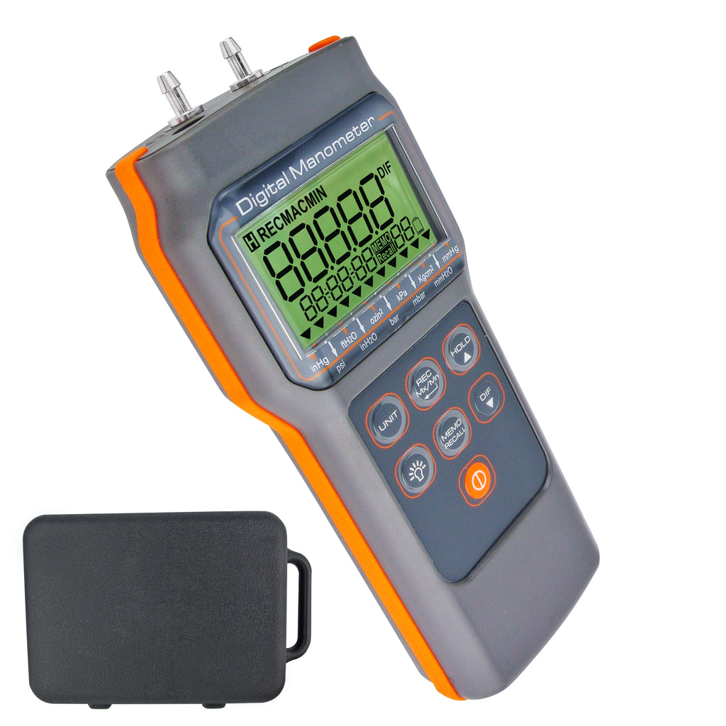 MATK-817 Portable Handheld Differential Air Pressure Manometer 15.000psi Gauge Meter HVAC Tester
