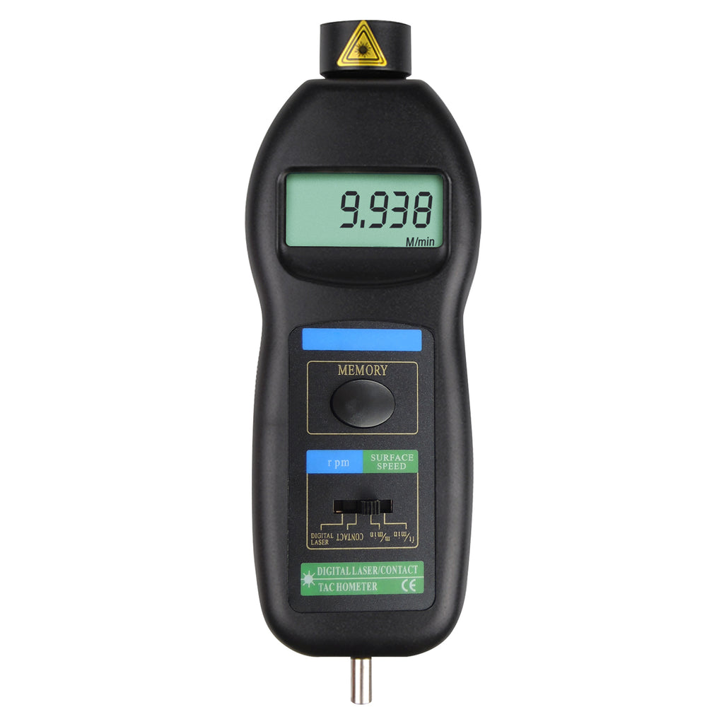 TATK-829 Digital Contact and Non-Contact Tachometer Laser / Photo / w/ ft & m/min RPM Auto Ranging