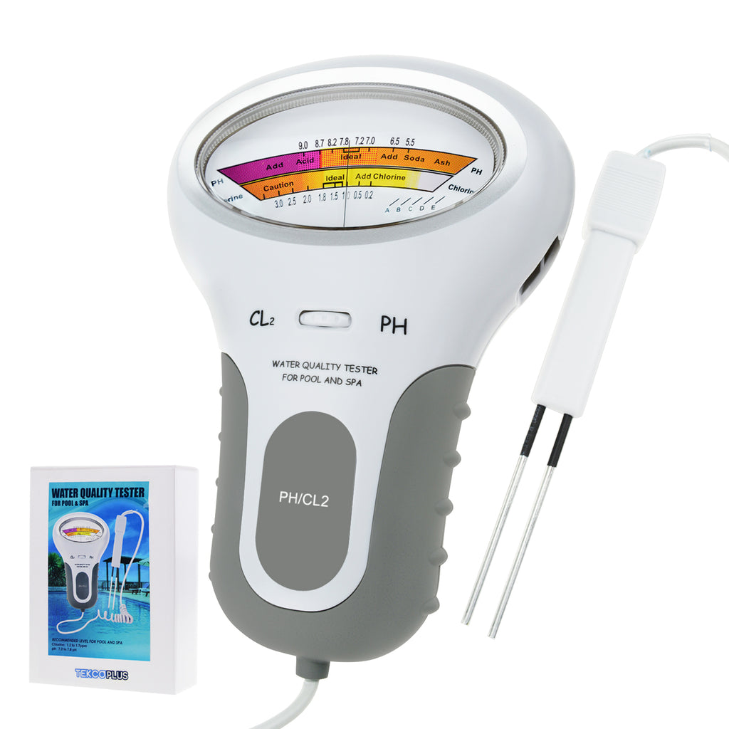 TEK-203 Portable Water Quality PH CL2 Chlorine Level Tester Monitor Meter for Swimming Pool Spa-Tekcoplus Ltd.