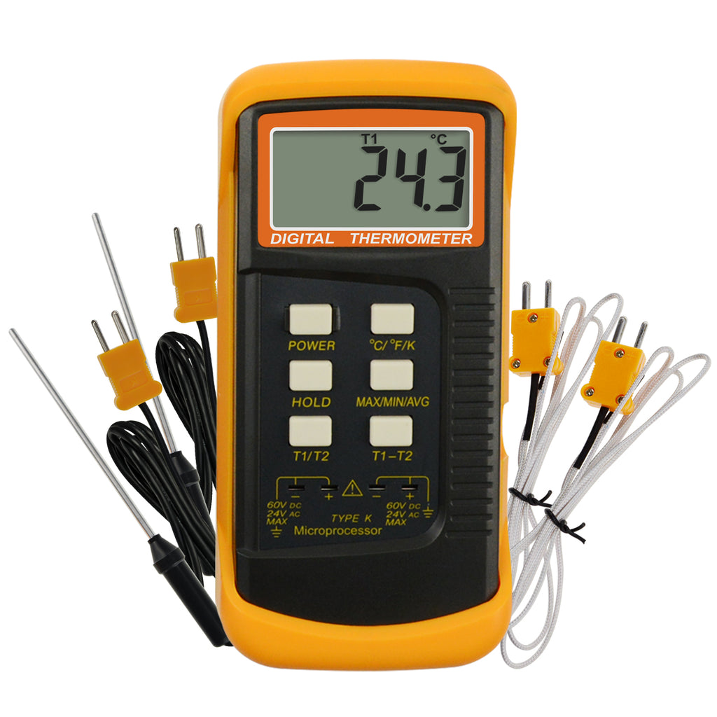 THTK-830_2P K-Type Thermometer 4 Thermocouples 2 Channels -50~1300°C (-58~2372°F)
