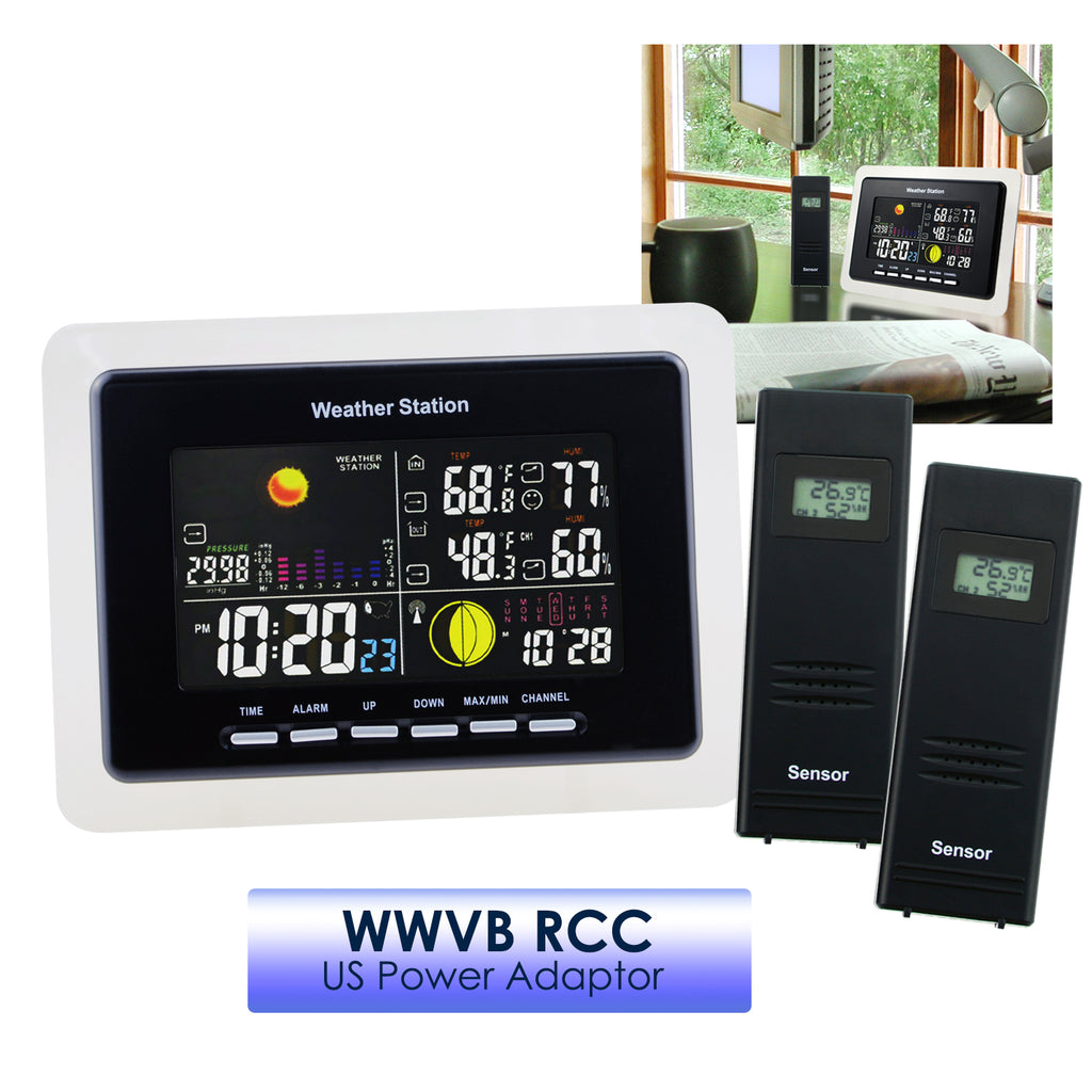 WSTK-33_2S Wireless 2 Sensor Weather Station Temperature Humidity RCC DCF / WWVB Thermometer-Tekcoplus Ltd.