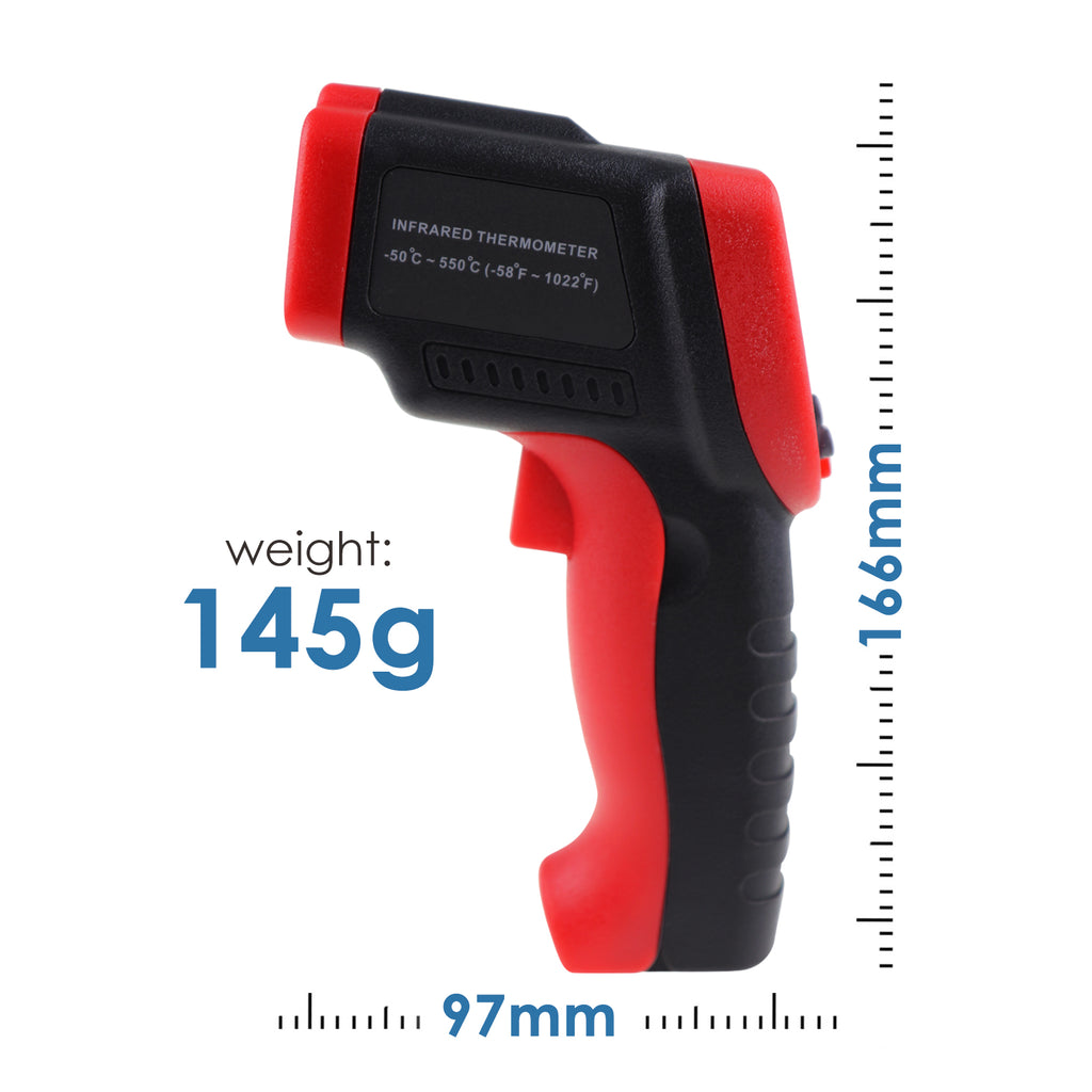 TK262PLUS Infrared Thermometer Digital Temperature Gun Meter Non-Contact IR Laser