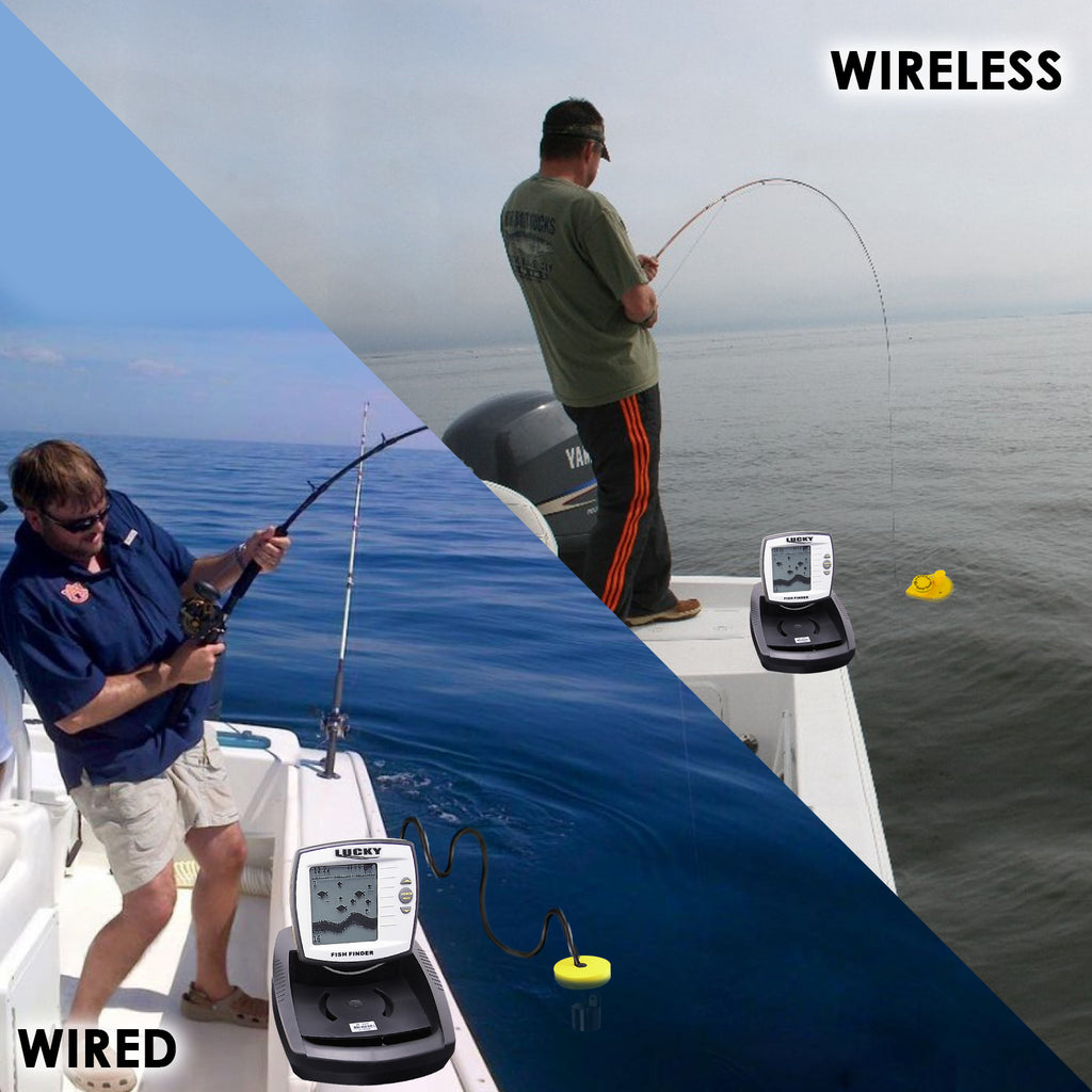FF-918 Lucky 2in1 Wired / Wireless Fish Finder Detector for Ocean, Lake, River Fishing Fishfinder-Tekcoplus Ltd.