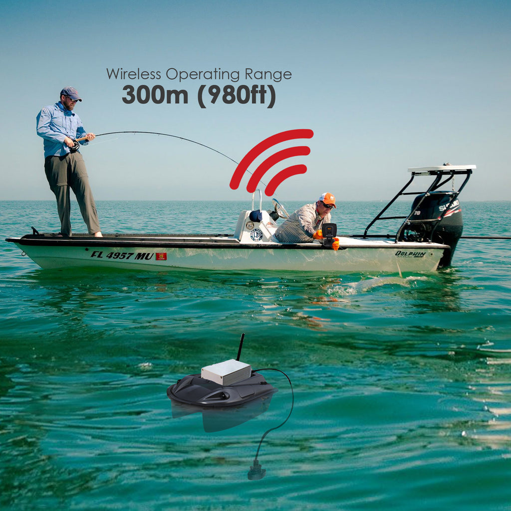 FF-918_CWLS LUCKY Color Display Boat Fish Finder Wireless Remote Control 300m/ 980ft