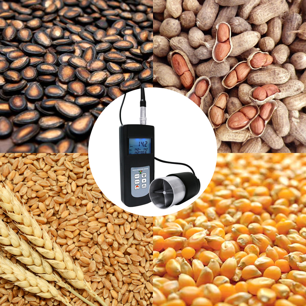 MMTK-868GG Grain Seed Moisture Meter Cup Type Rice Coffee Wheat Tester Digital Display LED Indicator-Tekcoplus Ltd.