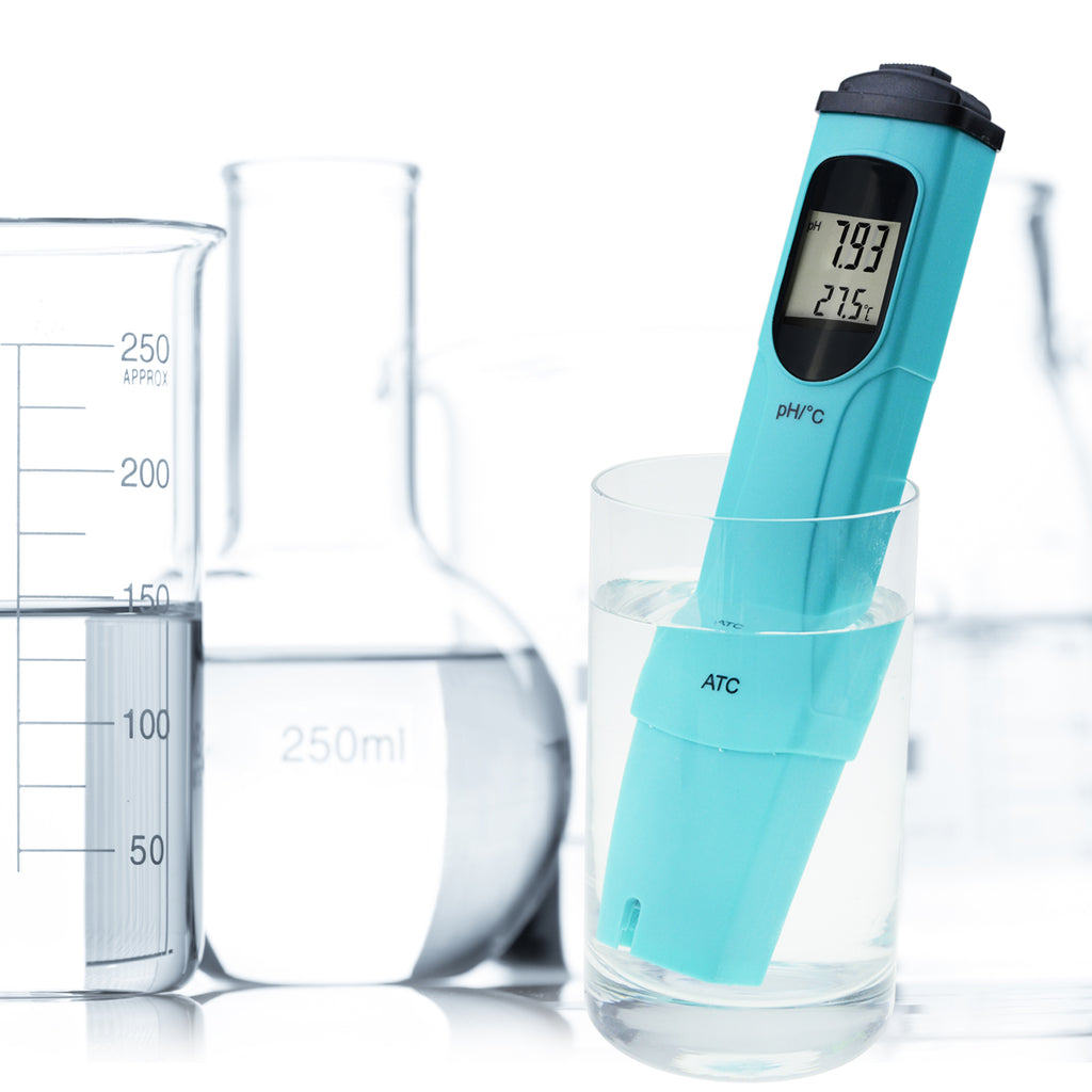 PHTK-841 Digital Pen-type pH Meter Thermometer 0.00-14.00 pH Water Quality Tester-Tekcoplus Ltd.