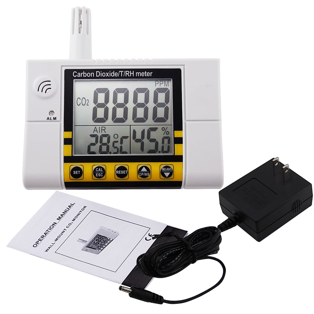COTK-4 Carbon Dioxide Indoor Air Quality IAQ Temperature Humidity Meter Tester CO2 Gas Detector-Tekcoplus Ltd.