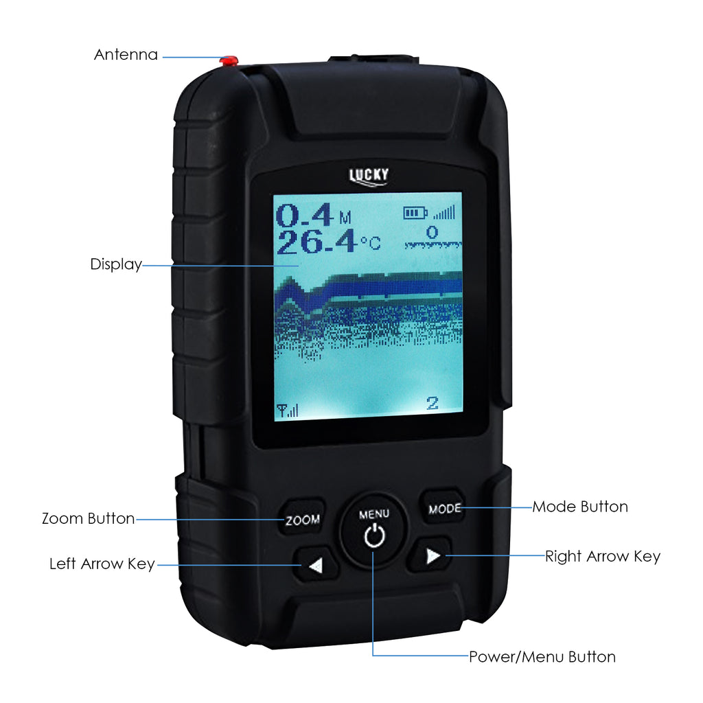 FF-718LiW LUCKY Rechargeable Wireless  40M Depth Fish Finder 180m Wireless Operation Range Sensor