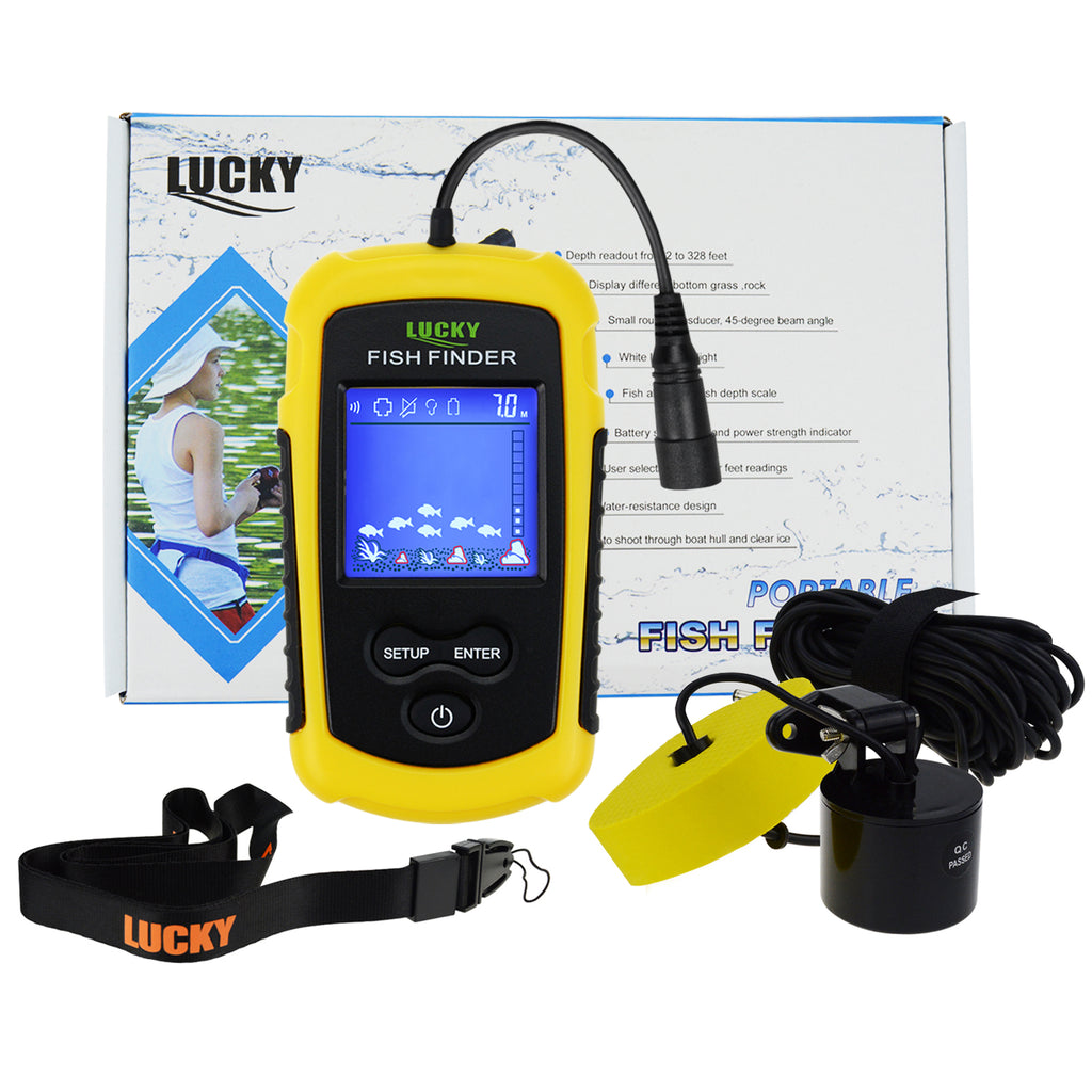FFC-1108-1 Lucky Portable Fish Finder Sonar Wired Fishfinder 100M (328ft) Depth Detection