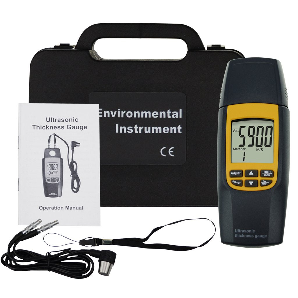 TMTK-188 Ultrasonic Thickness Meter Dual Tester 1.2~220mm with Velocity Measure 1000~9999 m/s-Tekcoplus Ltd.