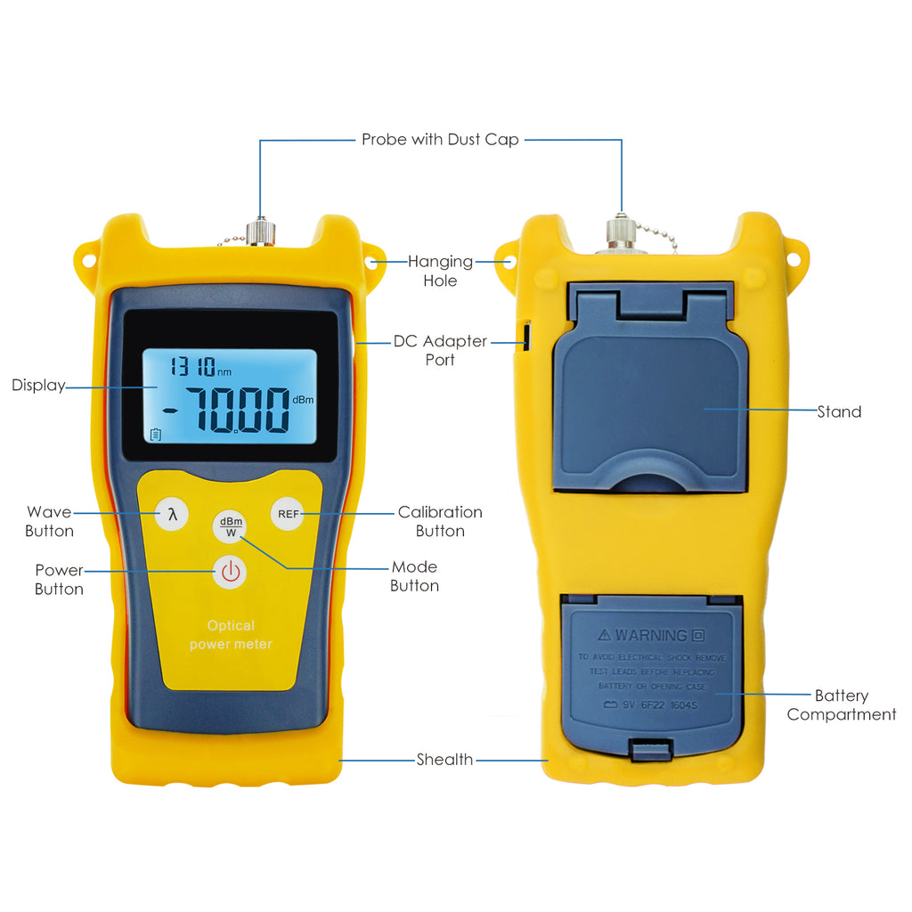 CTTK-854C Fiber Optical Optic -50 ~ +26 dBm Power Meter Tester Fault locator FC SC ST LC-Tekcoplus Ltd.