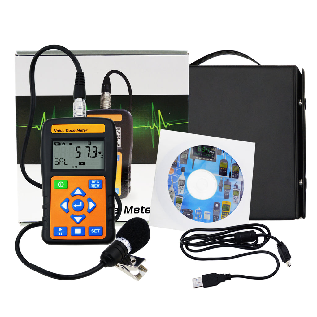 ST-130 Noise Dose Meter (Dosimeter) w/ USB port PC Interface Personal and Occupational Noise Tester-Tekcoplus Ltd.