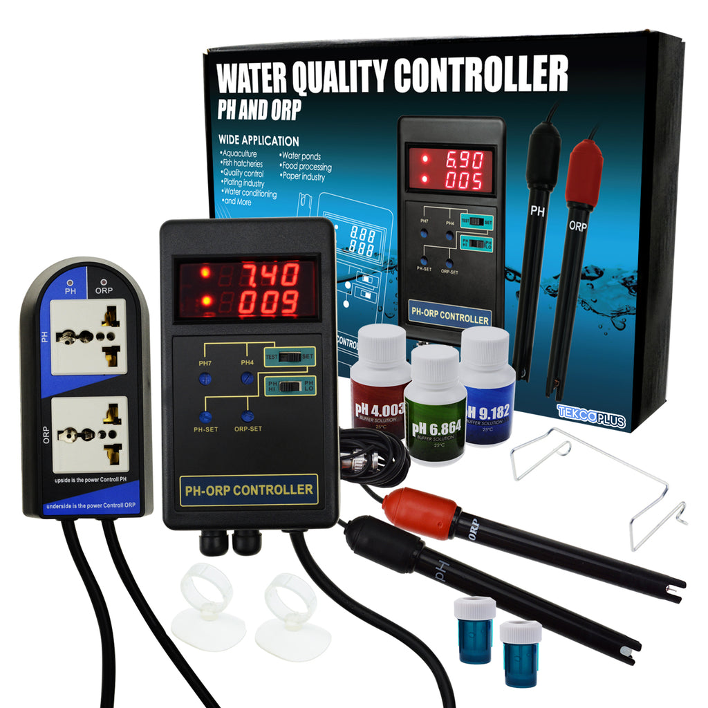 PHTK-244 Dual Display pH & ORP Redox Controller Repleaceable Electrode Water Quality Tester-Tekcoplus Ltd.