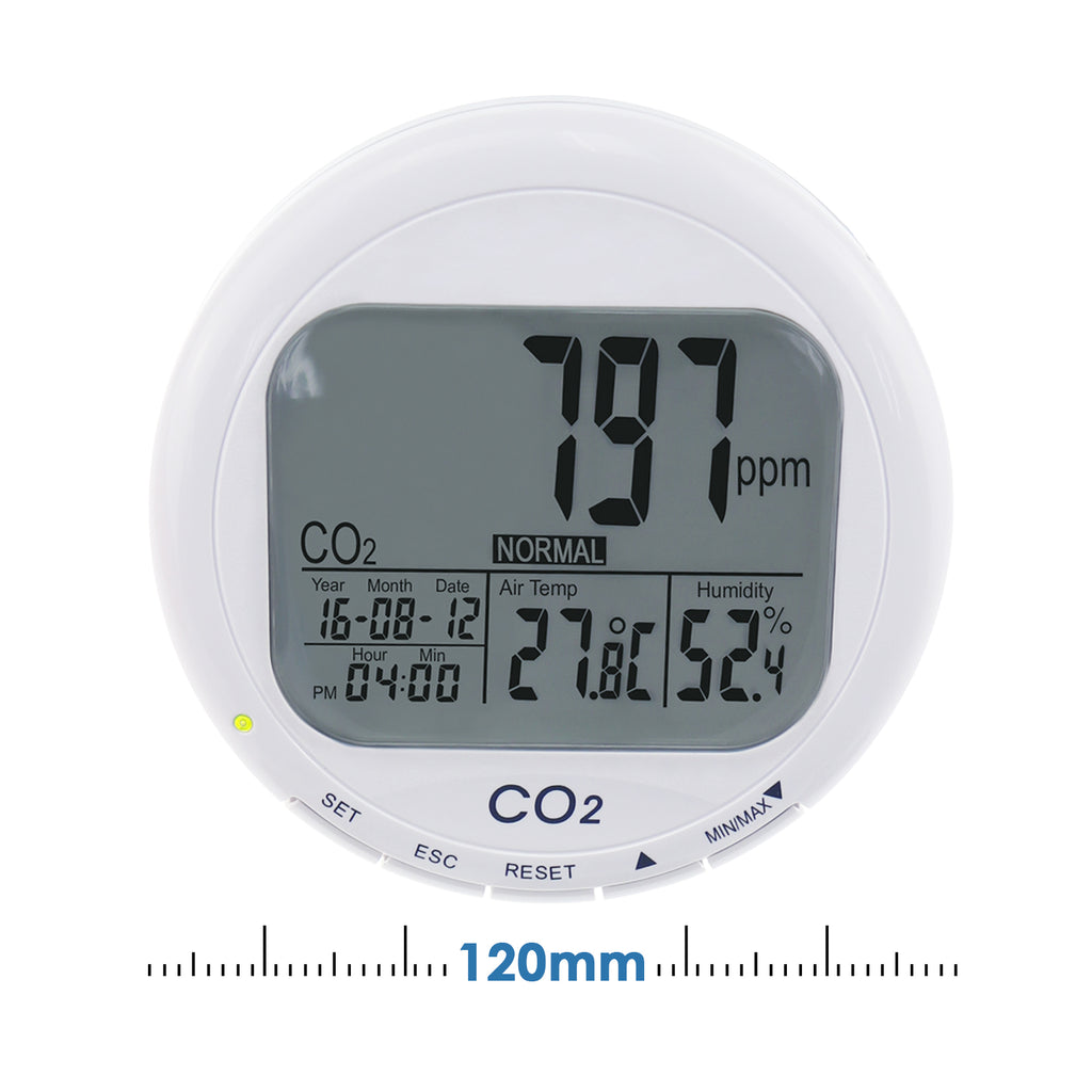 COTK-3 Desktop Carbon Dioxide ( CO2 ) Indoor Air Quality IAQ Tester Temperature Humidity RH Meters-Tekcoplus Ltd.