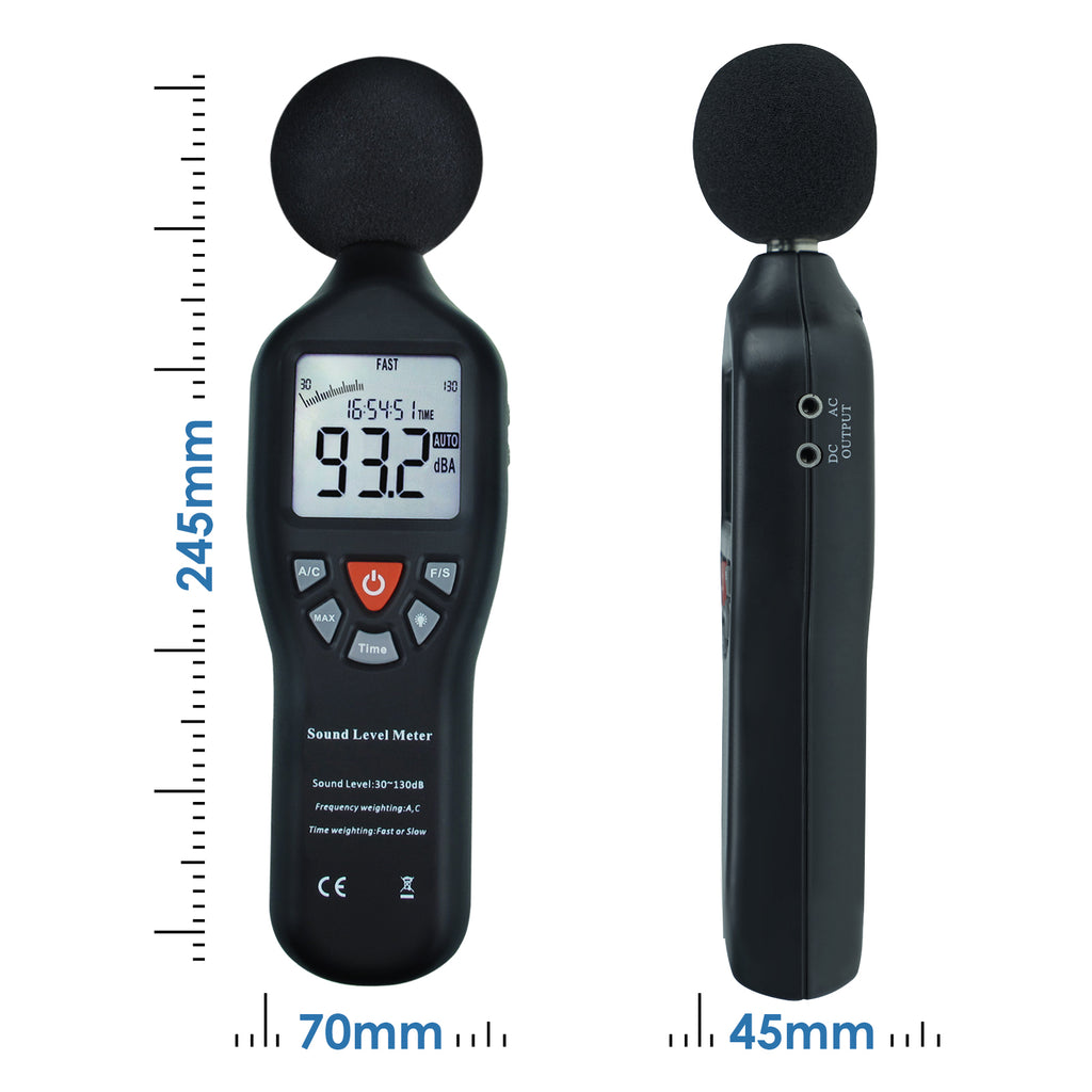 SLM24TK Digital Sound Level Meter with High Accuracy Measuring 30dB-130dB