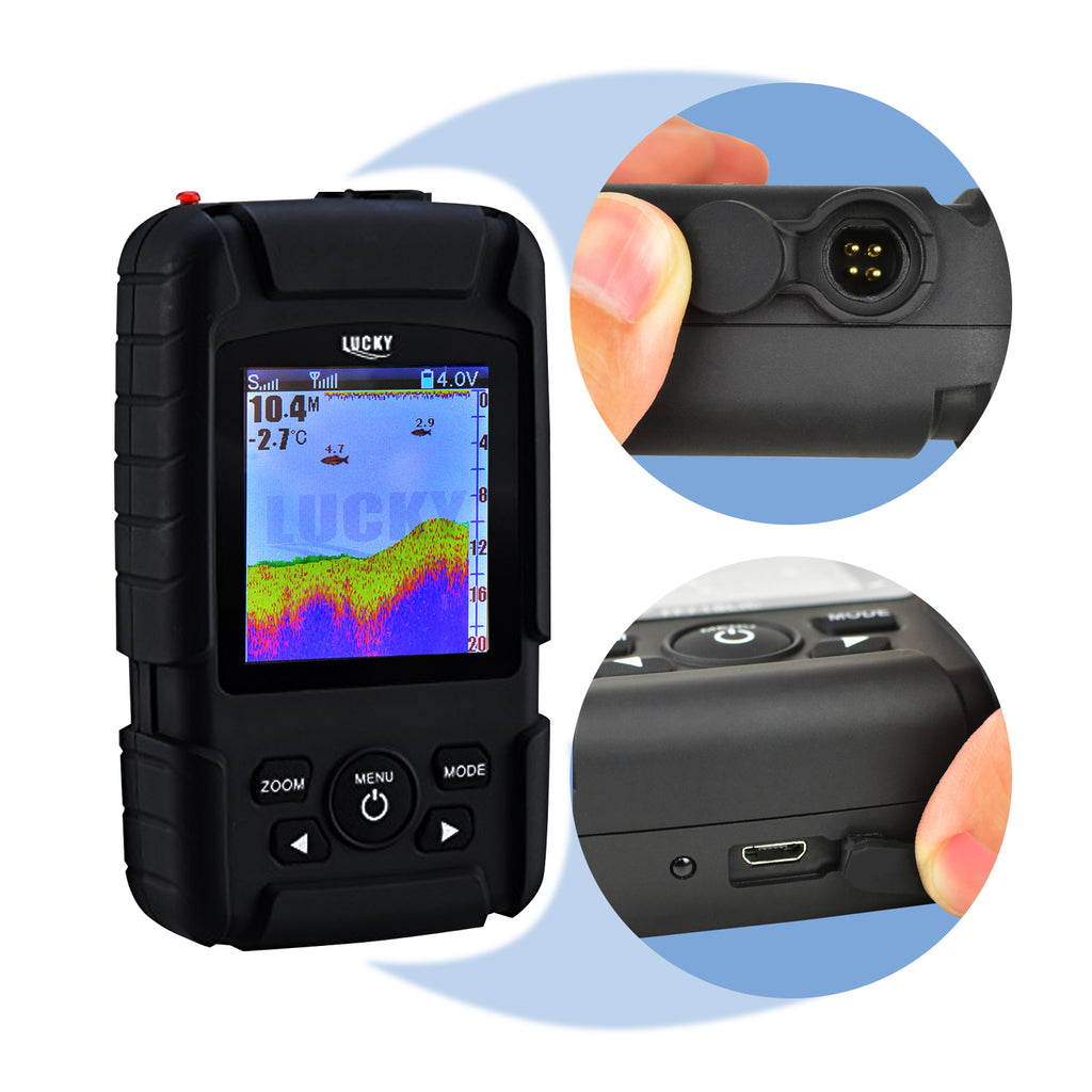 FF-718LIC-W LUCKY Rechargeable Colored LCD Fish Finder Detector 100m (328ft) Wireless Sonar Sensor-Tekcoplus Ltd.
