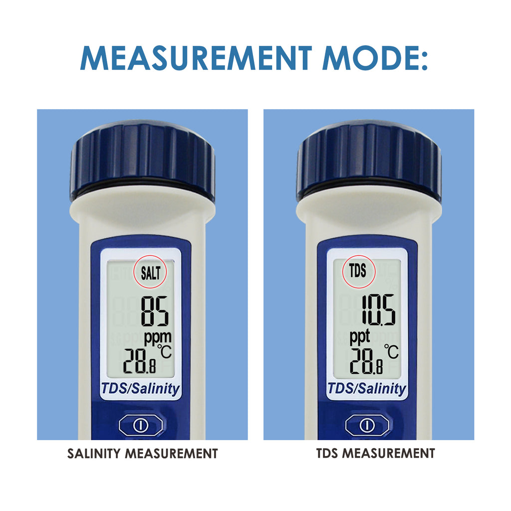 TK285PLUS Pen-type Digital Salinity PPM Temperature Waterproof Tester for Salt Water