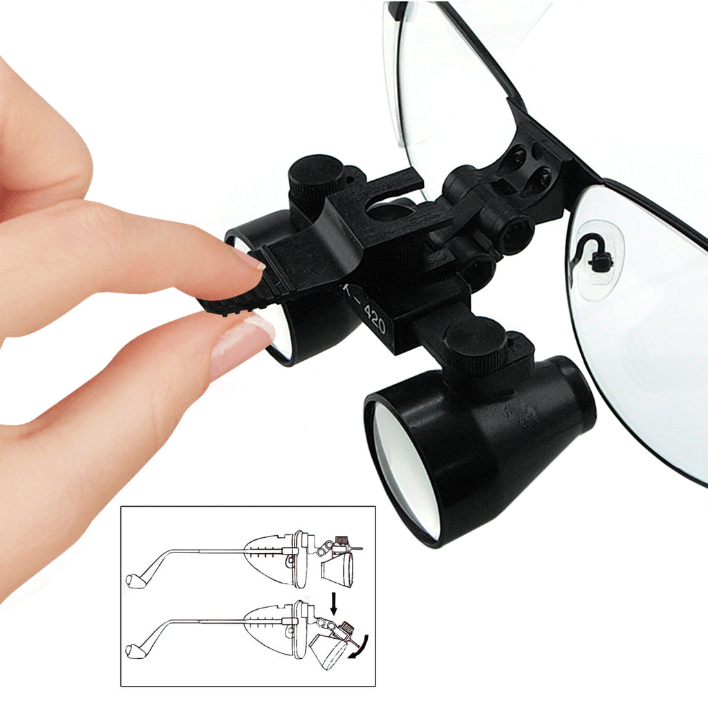 DLTK-769N 3.5x Magnification Dental Loupe Galilean Style Nickel Alloy Frame Medical Binocular