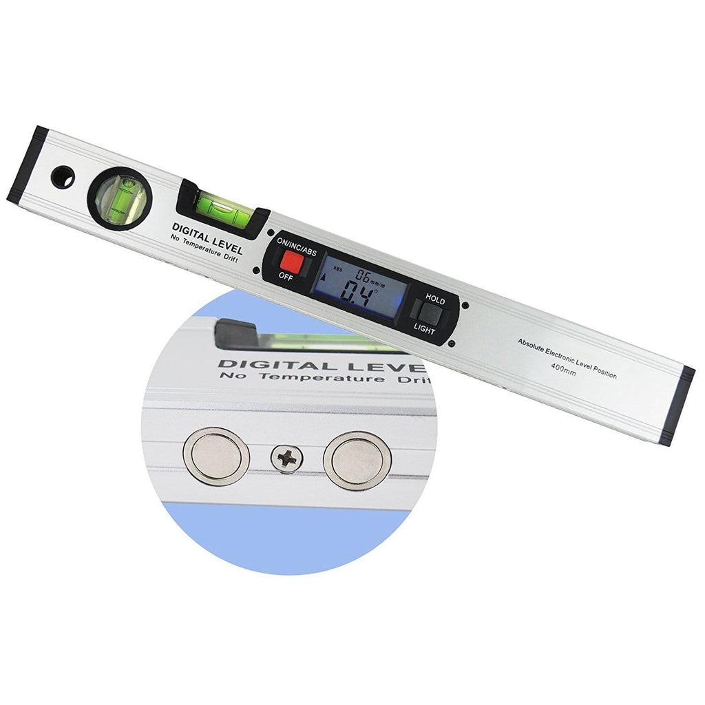 Digital Spirit Bubble Magnetic Electric Level Angle Finder Inclinometer Ruler