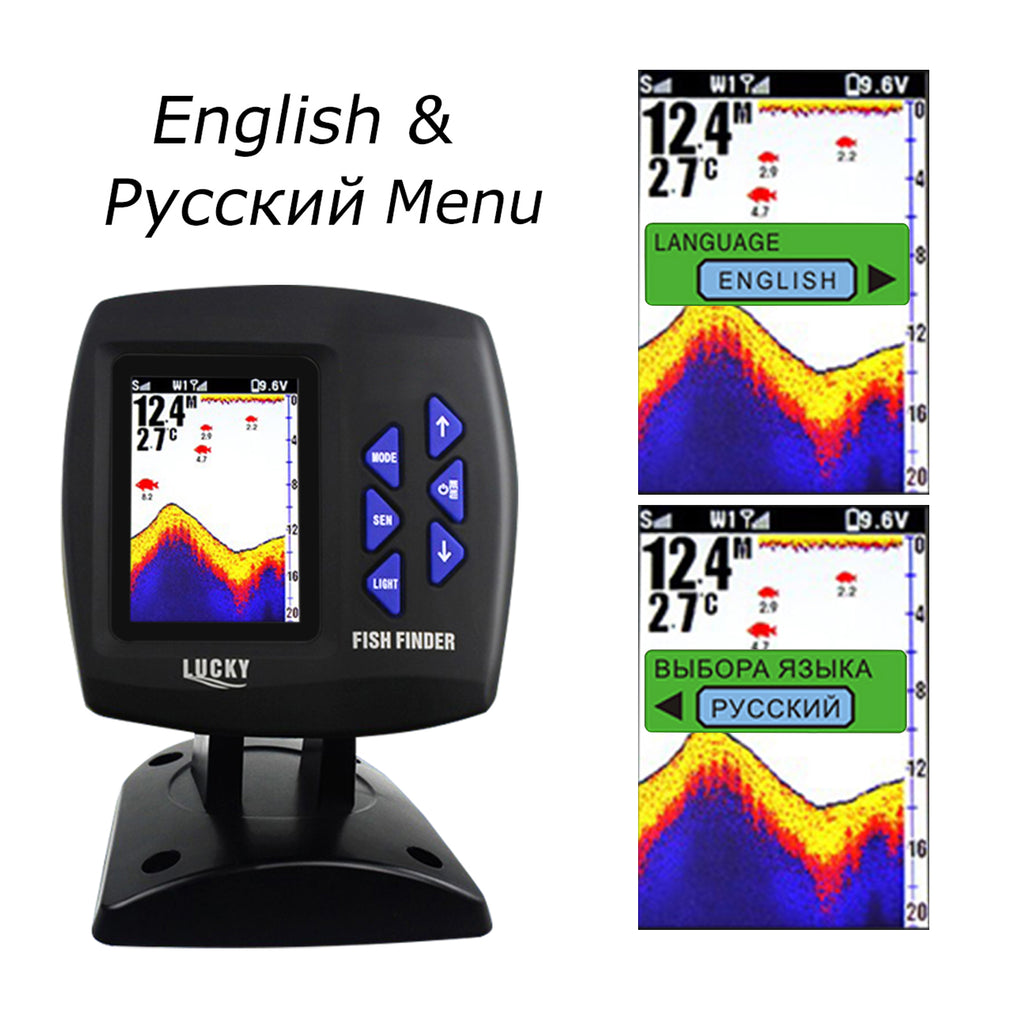 FF-918_CWLS LUCKY Color Display Boat Fish Finder Wireless Remote Control 300m/ 980ft-Tekcoplus Ltd.